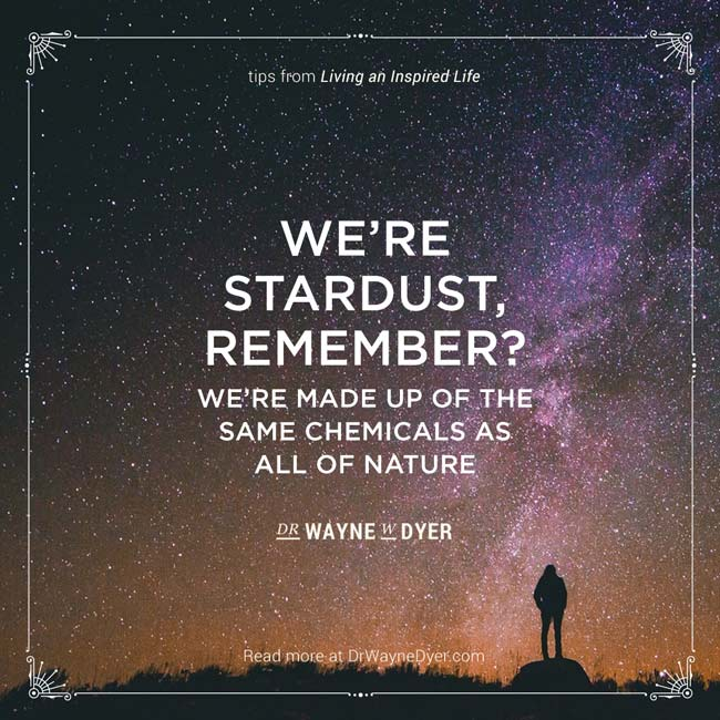 """""""We are stardust, remember? We're made up of the same chemicals as all of nature"""" — Dr. Wayne W. Dyer #nature #stardust #universe #cosmic #inspiration"""