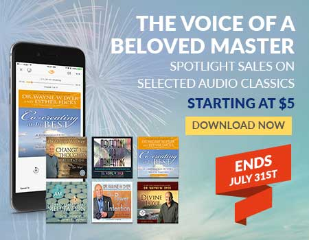 Audio Downloads from Wayne Dyer for Less - Ends 7/31